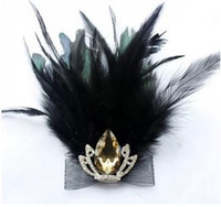 Women's Fashion Brooches Wholesale-MN-2pcs European Vintage Feather Crown Crystal sparkling Czech Diamond Pin Brooch suit brooch Accessories for men and women TDBF02