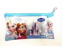 Wholesale Princess snow country PVC bag direct manufacturers students pen bag cartoon pen bags