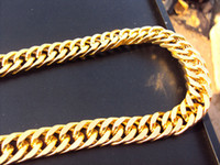 Wholesale 96g Burly men s k solid yellow gold GF Thick necklace chain quot mm wide