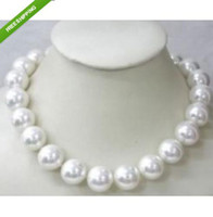 Wholesale Wonderful MM Natural White Shell Pearl Necklace AAA k