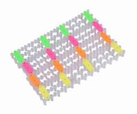 Rubber  Bracelet Fashion Loom Band Making Board Rainbow Rubber Bands Children Bracelet Making Kit Twistz Bandz Random color GNF