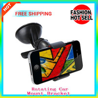 Wholesale 10pcs sale car bracket Universal degree Car Windshield Mount Cell Mobile Phone Holder Bracket Stands for iPhone samsung Galaxy cellphone