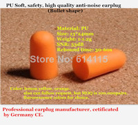 foam insulation - PU Soft safety high quality anti noise ear plug Prevent insulation wireless foam safety hearing protection pc