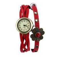 achat en gros de bracelets jaunes-Nouvelle Collection Vintage Or Couleur Cadre bracelets avec Jaune Vert Rouge Volubile PU Bracelet en cuir pour femmes Mode