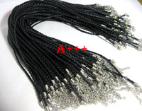 leather cord braided - 20pcs black braided leather necklace cord mm w lobster approx quot quot amp