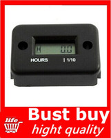 Wholesale 1pcs Hour Meter for Dirt Quad Bike ATV Motorcycle Snowmobile Black hight quality DropShipping