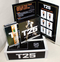 Cheap 2014 Hot Sale Fitness Insanity Workout T25 Focus MIB With Band Shaun T's T25 10 DVD Slimming Body Building Teaching Video Muscle Shaping