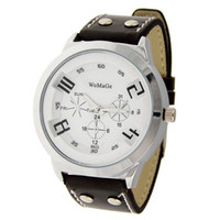 Wholesale Men Delicate Sports Leisurely Leather Band Wrist Watch