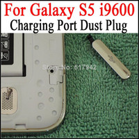 Wholesale USB Charging Port Dust Plug for Galaxy S5 Charger Port Cover Cap Water Proof Flap Cover for Galaxy S5