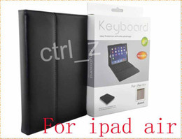 4 colors Wireless Bluetooth Keyboard Leather Stand Case Cover for ipad Air ipad 5 Silicone Keyboard with Retail Package