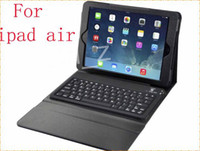 Wholesale New Holder Stand Leather Case Cover With Wireless Bluetooth Silicone Keyboard for Apple iPad Air