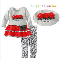 Cheap Girls Fall Dresses Fall Baby Girl Clothing Set