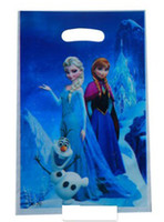 Birthday   2014 New Arrival Hot Sale Gifts Bag Fashion Festive Europe Frozen Anna Elsa Cartoon Party Supplies Children Birthday Party Gifts Bag E0450