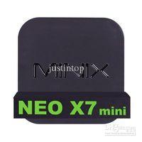 Wholesale MINIX NEO X7 mini X7mini Quad Core RK3188 Cortex A9 GB GB Smart TV BOX Set Top Box Android RK3188 Bluetooth XBMC Meida Player