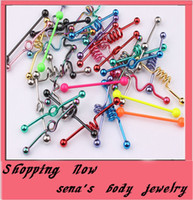 Tongue Rings Stainless Steel Chirstmas T01 spring tongue bar 100pcs lo stainless steel body piercing jewelry tongue jewelry ring tongue ring