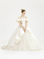 Ball Gown victorian dress - OFF THE SHOULDER QUEEN STYLE VICTORIAN WEDDING DRESS