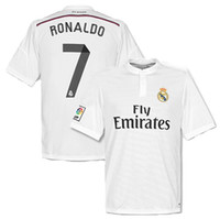 Wholesale 2014 Madrid Ronaldo Jerseys Top Thai Quality Soccer Uniform Kits Football Club Jerseys Custom Made Soccer Wears New Arrival