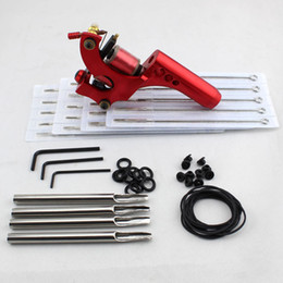 Wholesale Red Aluminium Alloy Carved Tattoo Kits For Parts