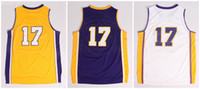 Wholesale New Arrival Los Angeles Jeremy Lin Bryant Gold Yellow White Purple Jersey Rev Men s Authentic Basketball Jerseys New Jersey