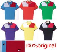 Men Short Sleeve 100% Cotton 2014 hot blusas New style Design Mesh t shirt Polo Shirts 100% cotton Summer Men official t-shirts Original tomm001