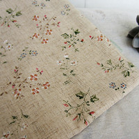 Wholesale Fresh goldenbarr rustic fluid cloth linen fabric curtain fabric clothes