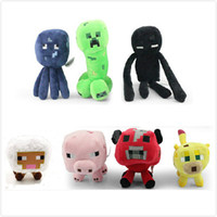 Wholesale 2014 New Arrival Minecraft Enderman creeper Mooshroom sheep squid cow pink doll pig quot Baby Pig Piggy Stuffed toys styles