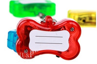 Wholesale Promotion available LED pet name id tag custom dog tag cute bone shape