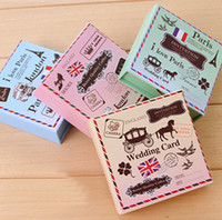 Wholesale 6 set DIY Vintage London Paris Stamps Wooden Horse Classic Retro Stamp for Scrapbooking Decoration Diary