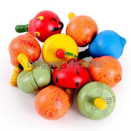 40PCS LOT,Mini spin top,Fruit spinning top,Cartoon gyro,Wooden toys,New baby toys,Kids toys,Promotion toys.Wholesale.