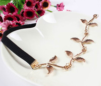 Wholesale Graceful Women Headbands Jewelry Alloy Headpiece Chain Hairbands Lady Hair Accessories With Leaves Ornament FS9010