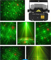 Wholesale Mini Laser Stage Lighting Styles in Stage Light Voice Control Stage Light Red amp Green LED R amp G Projector indoor music DISCO DJ Party
