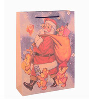 Christmas   11.5*6*14.5cm Christmas gift bag paper bag with handle Packaging Bag ,Foreign trade ,Support custom