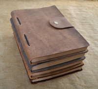 Wholesale A5 Vintage Refillable Genuine Leather Traveler Journal Notebook Diary Sketch Book Fathers Day Gift Colors