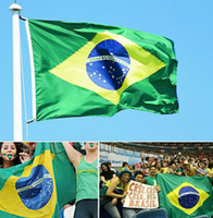 Wholesale 2014 Brazil World Cup Brazilian Large Flag X3FT Size X150cm Football