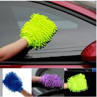 Wholesale 2014 Hot New Soft Mitt Microfiber Ultrafine Fiber Chenille Anthozoan Car Wash Washing Cleaning Gloves Car Washer Supplies