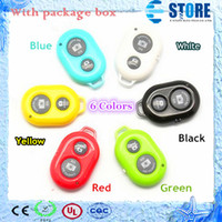 Wholesale 2014 NEW Wireless Bluetooth Remote photo Camera Control Self timer AB Shutter for iPhone S Galaxy S4 S5 Note3 M8 Android Smart phone M