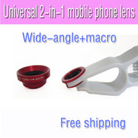 Universal wide-angle len  Universal 2in1 Mobile Phone Camera Lens for Any Kind of Cell Phone with two Lens Effect ( Wide Angle Macro )