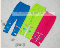 Leggings & Tights Girl Spring / Autumn 2014 new Girls lovely Candy color small fish swimming leggings