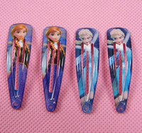 Barrettes Plastic Character Fashion Girls Hairpins Hair Accessories Children Frozen Hair clips princess Elsa Anna hair clips for kids Hair Accessory Free Shipping
