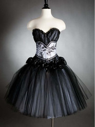 Wholesale Black Gothic Corset Prom Dress Homecoming Gowns