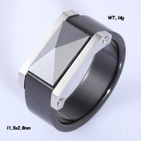 Wholesale Wedding stainless steel black ceramic ring with high class screw for men professional Factory design your own jewelry MOQ
