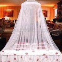 Polyester / Cotton Cotton Column New Romantic Elegant Round Lace Summer Mosquito Net Bed Canopy Netting White Pink Blue Free Shipping