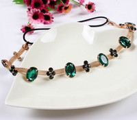 Headbands As the Picture Asian & East Indian New Style Women Headbands Jewelry Rhinestone Headpiece Chain Hairbands Lady Hair Accessories Fit Outside Wear FS9018*5