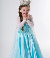 Wholesale EMS DHL Free Fast Shipping Frozen Dress For child Girls Frozen Elsa Dream Dress Long skirt Chiffon Trailing Dresses Girls Party dress J0262