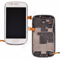 galaxy s3 digitizer - 1 Full LCD Display Touch Screen Digitizer with frame for Samsung Galaxy S3 mini i8190