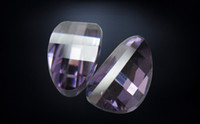 Wholesale high quality machine cut cz purple ingot