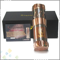 fit 18650 and 26650 battery Non-Adjustable Electronic cigarette New Arrival Kryptonite Mod E-Cigarette Kryptonite 1:1 Clone Full Mechanical Mod fit 18650 and 26650 Battery DHL Free