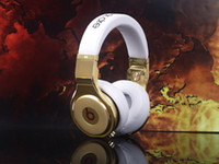 Wholesale fashion brand new white amp gold pro noise cancelltion Headphones Earphones