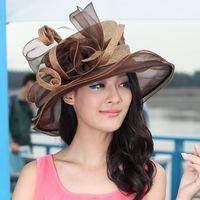 Wide Brim Hat sinamay fabric - Women Church Sinamay Hat Sinamay Fabric With Organza Brim Winter Dress Hat Sun Hat Sinamay Ribbon Feather Hat