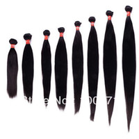 Wholesale 10 quot quot Brazilian Virgin Remy Human Hair Natural Hair Extension Straight Dyeable and Bleachable mix any lengths yourself